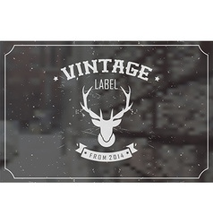 Vintage retro insignia stamp label badge vector