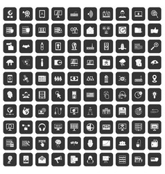 100 cyber security icons set black vector image vector image