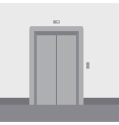 Close elevator doors vector