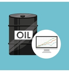 Barrel oil concept finance graph vector