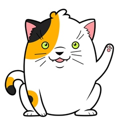 Japanese cat of luck vector
