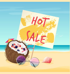 hot sale text on sign on vector image