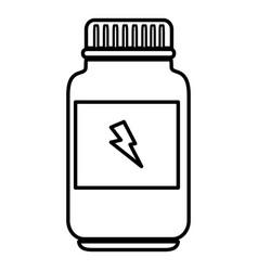 Bottle energizing product icon vector
