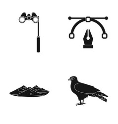 Lorgnette the placard feather and other web icon vector