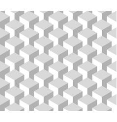 Seamless 3d geometrical pattern of cube columns vector