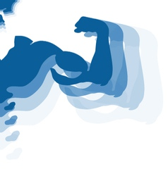 Human muscles for the gym vector