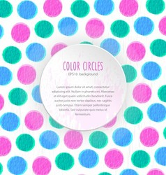 Color circles background vector