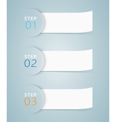 3d numbered step ribbons 3 vector