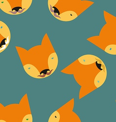 Fox seamless pattern animals background vector