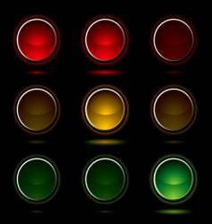 traffic light buttons vector image