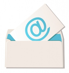 Envelope with email symbol vector
