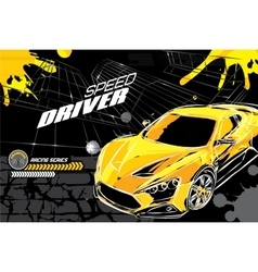 Racing car on a black background vector
