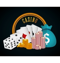 Casino royal games design vector