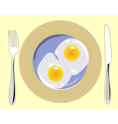 Poached eggs vector