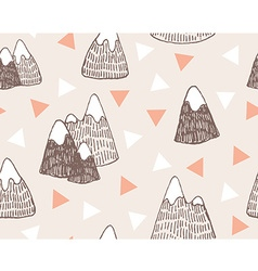 Seamless pattern with mountains landscapestylish vector