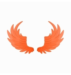 Pair of fire wings icon cartoon style vector