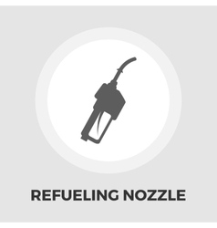 Refueling nozzle icon flat vector