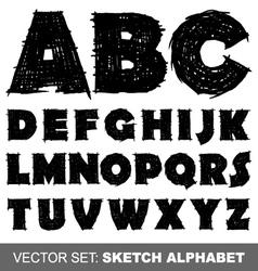 Sketch alfabet vector