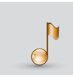 Note sing icon musical symbol vector