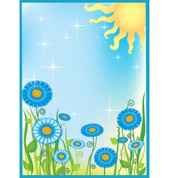 Summer field of flowers vector