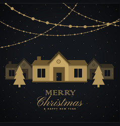 Amazing merry christmas seasonal greeting with vector