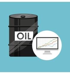 barrel oil concept finance graph vector image