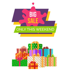 Big sale this weekend sticker web poster vector