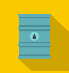 Blue oil barrel icon flat style vector