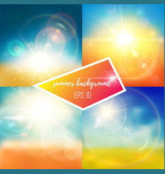bright bluish summer backgrounds vector image
