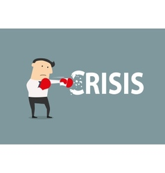 Businessman breaks the crisis vector image vector image