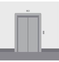 Close elevator doors vector