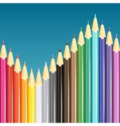 Colorful pencils background vector image vector image