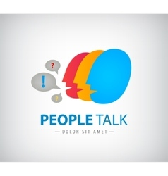 colorful people chat logo icon vector image vector image