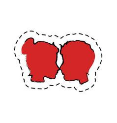 Couple heads love card vector