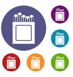 crayons icons set vector image vector image