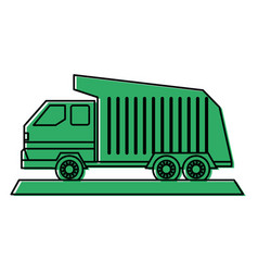 Dump truck icon image vector