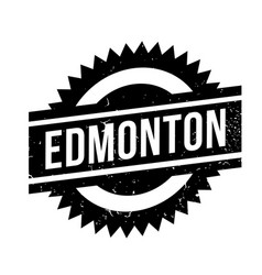 Edmonton rubber stamp vector