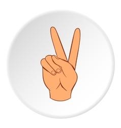 Gesture victoria icon cartoon style vector
