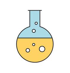 laboratory tube test icon vector image