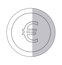 middle shadow monochrome circle with currency vector image