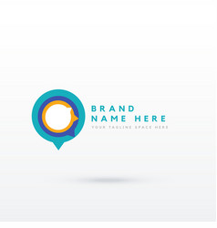 Modern chat style logo concept design vector
