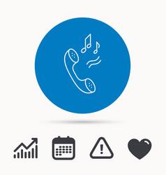 phone icon call ringtone sign vector image