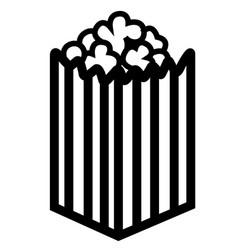 pop corn bowl icon vector image vector image