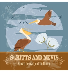 Saint Kitts and Nevis national symbols Brown vector image vector image
