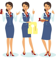 Stewardess vector