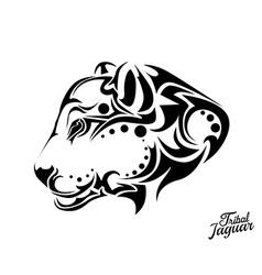 Tribal Jaguar tattoo vector image vector image
