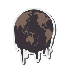 Earth oil melting icon vector