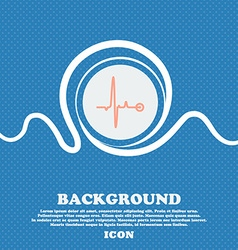 Heartbeat sign blue and white abstract background vector