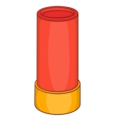 Shotgun shell iconcartoon style vector