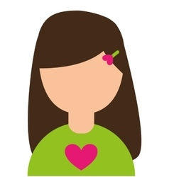 Girl little kid cute character vector